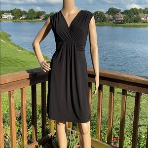 Maurices Surplice Sleeveless Ruched Tie Back Dress